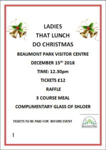 Ladies Who Lunch Christmas Special @ Beaumont Park Visitor Centre