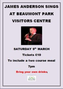 James Anderson Sings @ Beaumont Park Visitor Centre