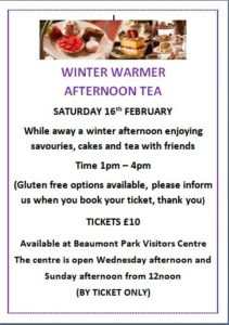 Winter Warmer Afternoon Tea @ Beaumont Park Visitor Centre
