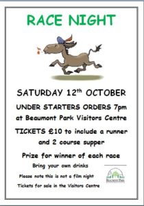 Race Night @ Beaumont Park Visitor Centre