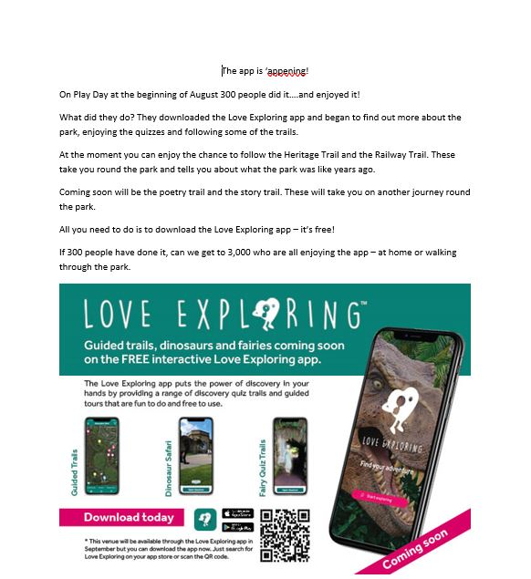 Have you tried the Love Exploring app yet?